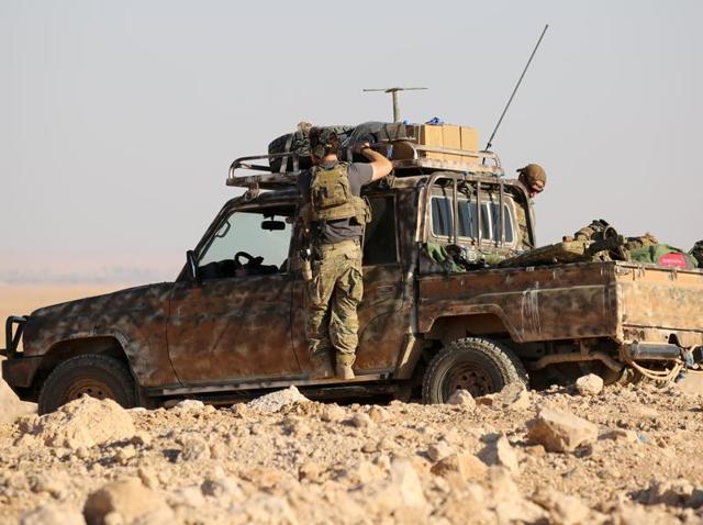 Raqqa,Syria,US-backed Kurdish-Arab