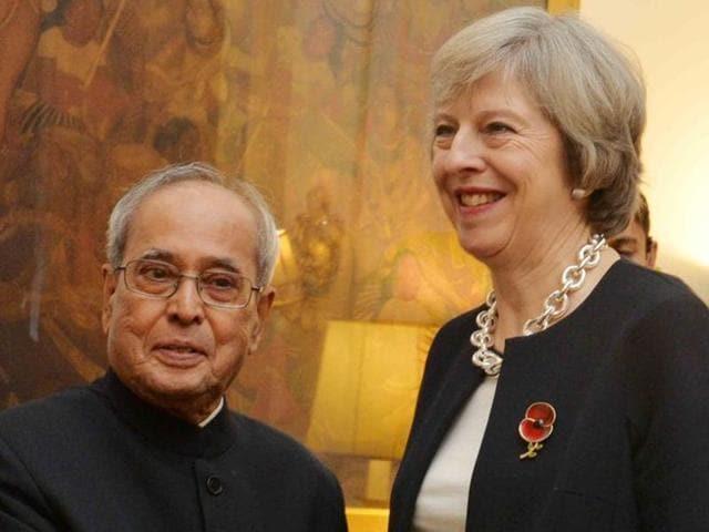 India UK ties,Theresa May,Pranab Mukherjee