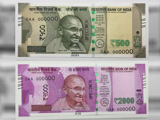 PM Modi said newly designed notes of Rs 2,000 and Rs 500 denominations will be circulated soon(ANI)