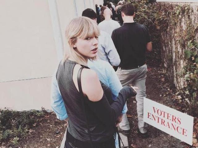 Taylor Swift made her vote count.