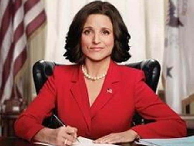 Julia Louis-Dreyfus as Selina Meyer on the HBO comedy, Veep.