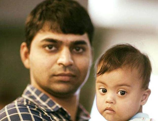 Aditya Tiwari  with Binny.