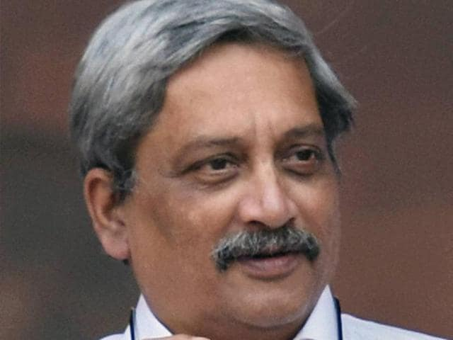 File photo of defence minister Manohar Parrikar. The defence ministry cleared its new blacklisting policy for arms contractors over wrongdoings.