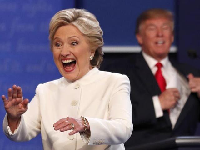 Democratic US presidential nominee Hillary Clinton and Republican nominee Donald Trump.