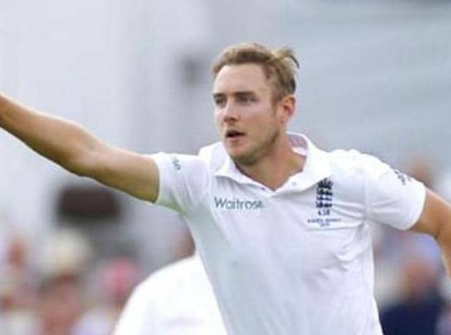 Stuart Broad will be playing his 100th Test during the game against India in Rajkot.