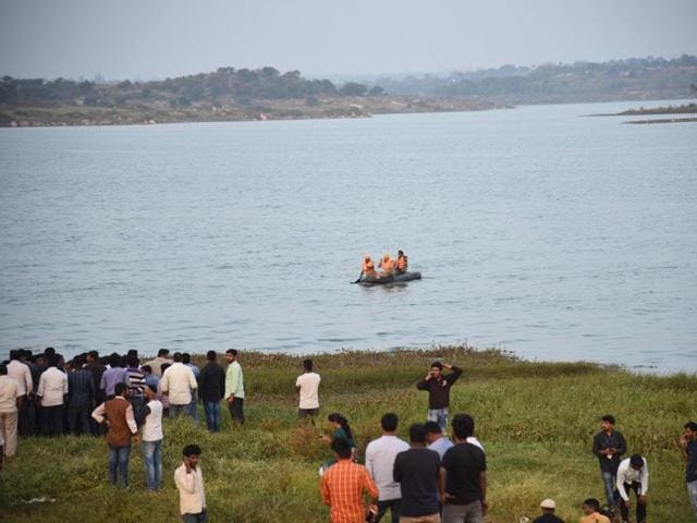 Two stuntmen drowned after they jumped from a helicopter into a reservoir in southern India while shooting a scene for an upcoming film.