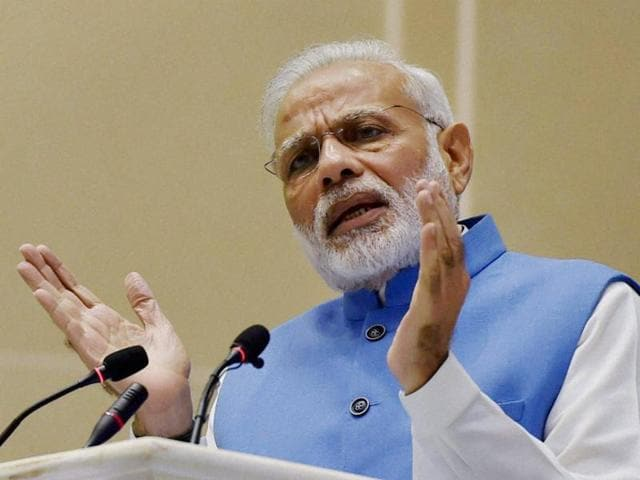 PM Narendra Modi in his address to the nation on Tuesday evening.(PTI file photo)