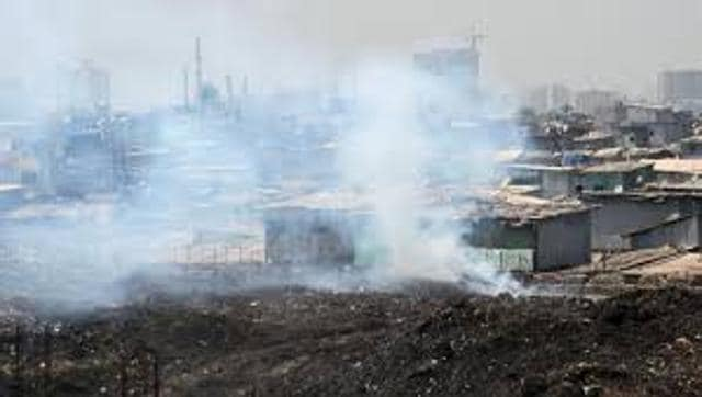 Fire had broken out at the dumpsite twice after the monsoon.