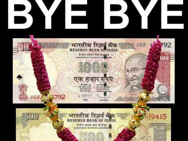 An image of Rs 1000 note that went viral on the mobile application WhatsApp.
