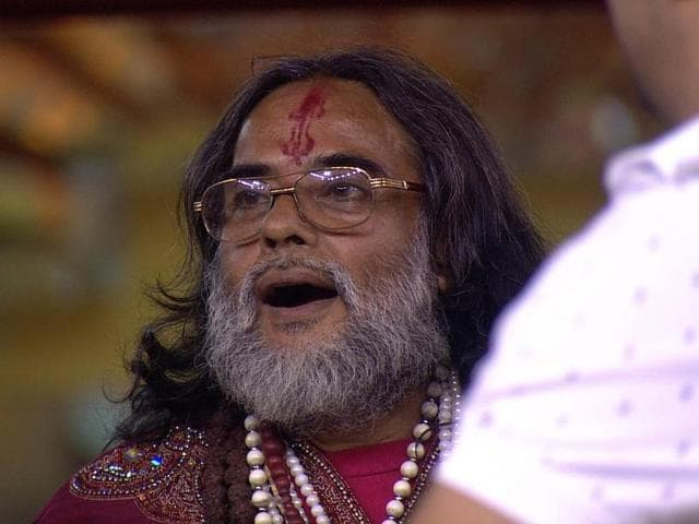 Swami ji was sent to a secret room last week while the participants were told that he has been evicted.