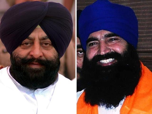 Kapurthala district planning committee chairman and former MLA Sarabjeet Makkar (left) and former BSP leader KS Makhan (right)