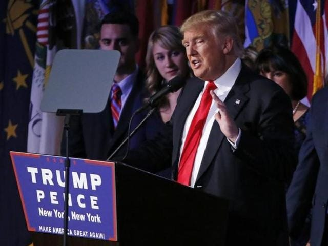 US President elect Donald Trump.