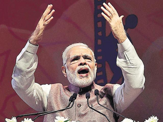 "Manish Tewari on Tuesday described Prime Minister Narendra Modi as a ""modern day Tughlak.""(HT File Photo)"