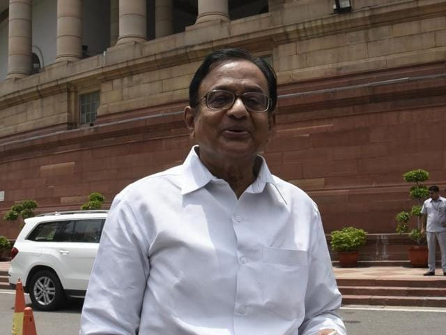 Former union minister of finance P Chidambaram.