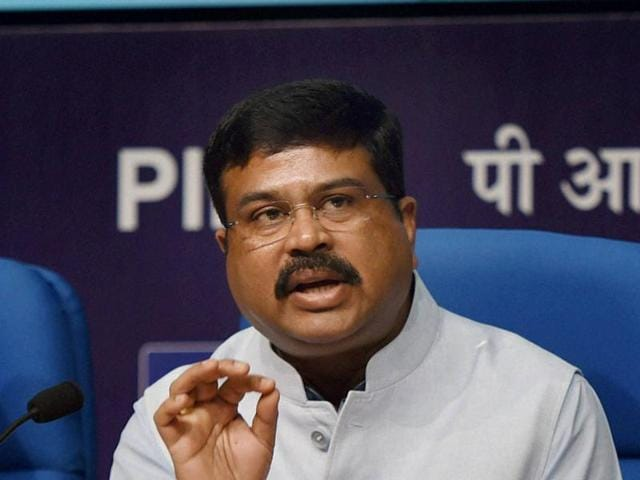 Minister of state for petroleum and natural gas  Dharmendra Pradhan.