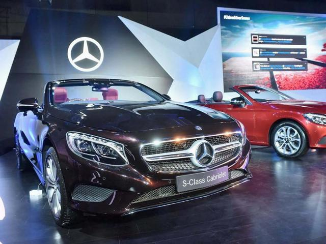 Mercedes launched the C-Class Cabriolet and S-Class Cabriolets in New Delhi on Wednesday.