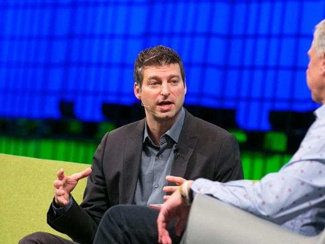 Adam Bain, Twitter's president of global revenue, stands in a conference room at his company's San Francisco, California.