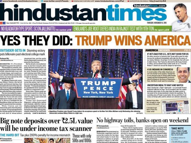 A screenshot of  HT's Wednesday edition.