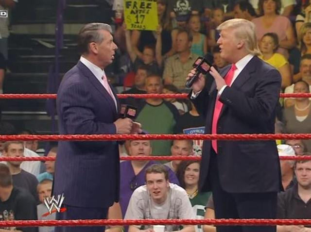 Donald Trump was a known face for Wrestlemania fans. (YouTube)