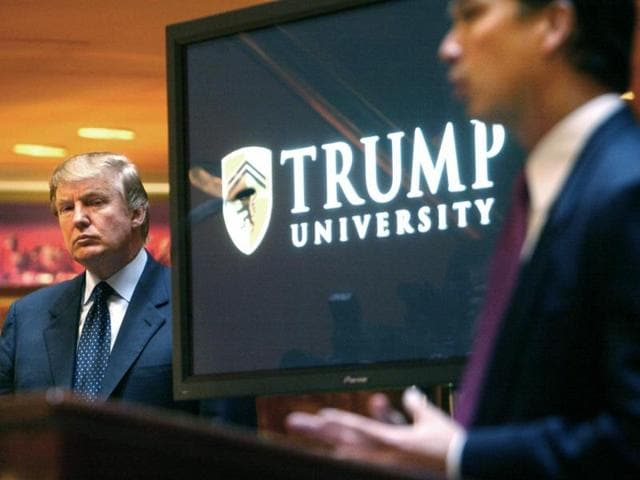 The lawsuit filed in 2010 on behalf of former customers alleges that Trump University, which was not accredited as a school, gave seminars and classes across the country that were like infomercials, pressuring people to spend up to $35,000 for mentorships and, in the end, failing on its promise to teach success in real estate