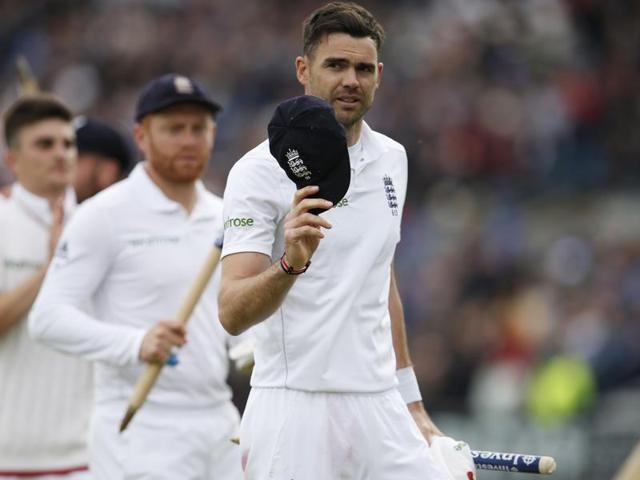 James Anderson suffered a stress fracture in his shoulder which ruled him out of the first Test.