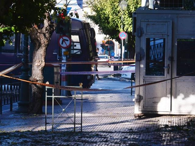 French Embassy,Grenade attack,Athens