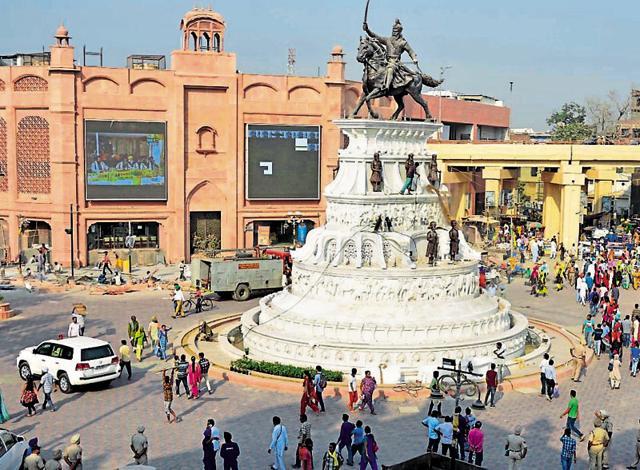 File Photo : The heritage street near Golden Temple Amritsar.