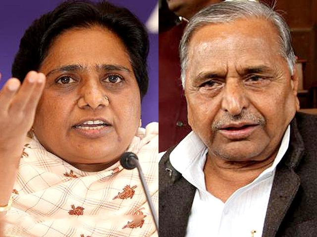 A combination picture of Mulayam Singh Yadav and Mayawati.