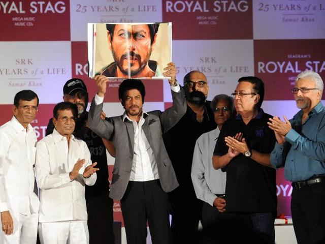 SRLK launched the bookSRK 25 Years of a Life in Mumbai. (PTI Photo)