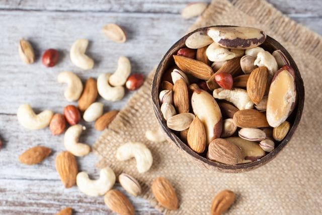 Nuts and seeds are healthy sources of protein for vegetarians