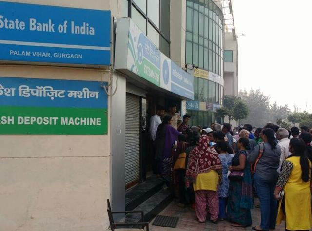 Narender Kumar, who had come to the bank with the printed card of his daughter's wedding hoped that bank officials would listen to his pleas for more cash