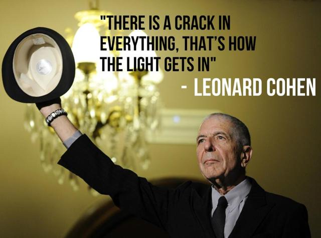 Leonard Cohen was a man of beautiful words and that's exactly how the world will remember him.