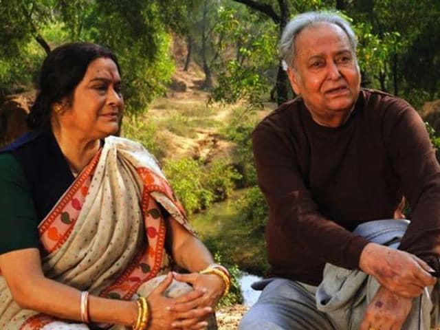 Praran Bandopadhyay, Anamika Saha, Ardhendu Banerjee and Sohag Sen on the set on Benche Thakar Gaan.