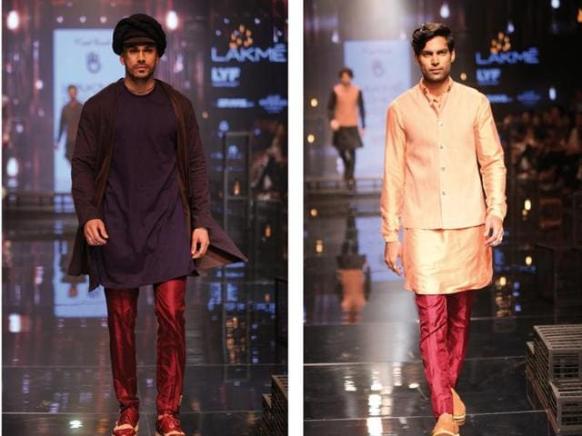 Models in Indian formals