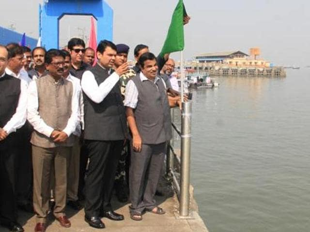 Chief minister Devendra Fadnavis and Union minister Nitin Gadkari had on Monday laid the foundation stone for water transport terminal at Ferry Wharf.