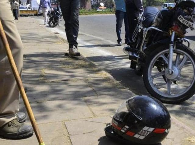 The biker was rushed to a private hospital in Mira Road where he died after three hours.