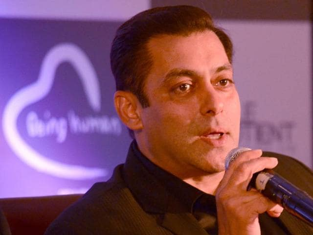 Actor Salman Khan at the launch of Being Human Jewellery in New Delhi on Sept 30.