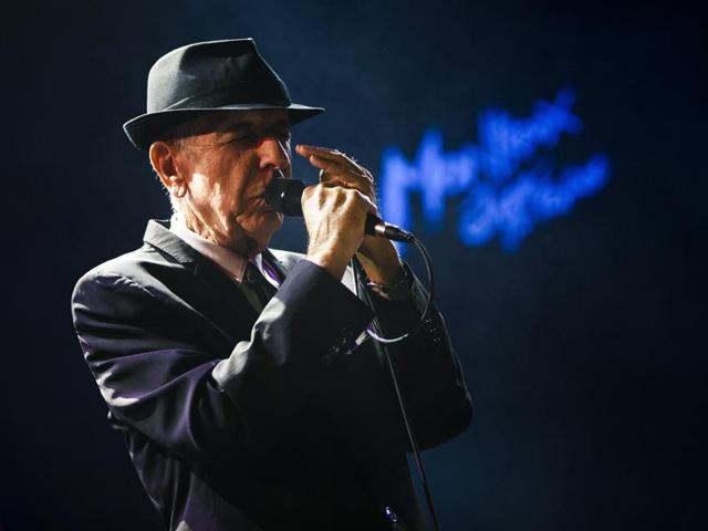 Canadian singer-songwriter Leonard Cohen performs during the first night of the 47th Montreux Jazz Festival in Montreux, Switzerland on July 4, 2013.