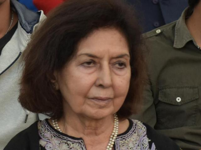 Writer Nayantara Sahgal (right) among the attendees at the Chandigarh Literature Festival  on Thursday.
