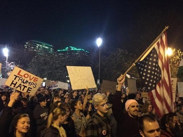 Protest in US,anti-Trump,Donald Trump