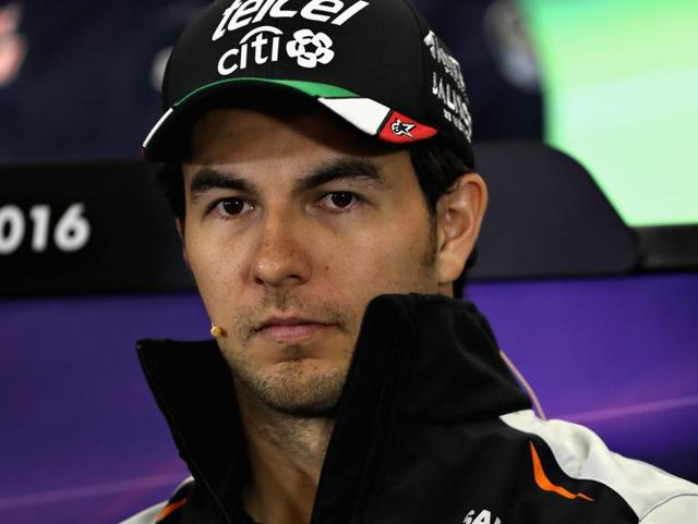 Force India Mexican driver Sergio