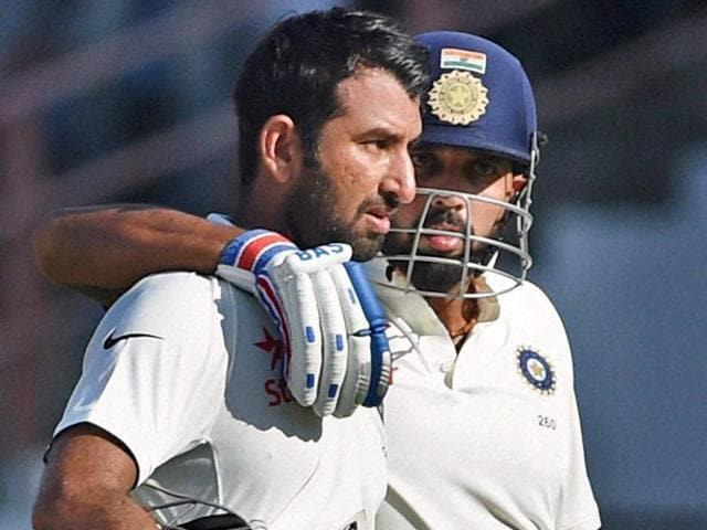 Cheteshwar Pujara was in a more aggressive avatar while Murali Vijay played a gritty knock, adding 209 for the second wicket, which is India's highest second-wicket stand against England in Tests.