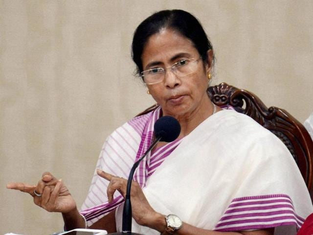 West Bengal chief minister Mamata Banerjee addresses the media after a at her office in Kolkata.