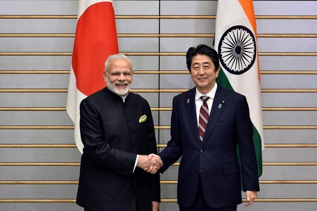 Prime Minister Narendra Modi and his Japanese counterpart Shinzo Abe in Tokyo, November 11
