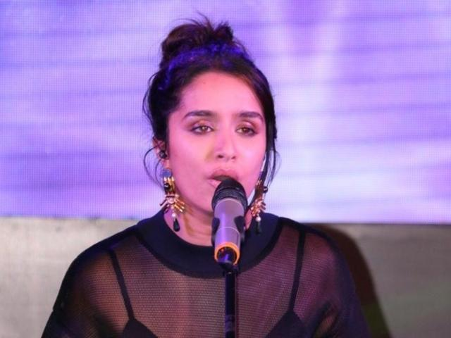 Shraddha calls a guy on stage and hugs him after 17 meetings in a day