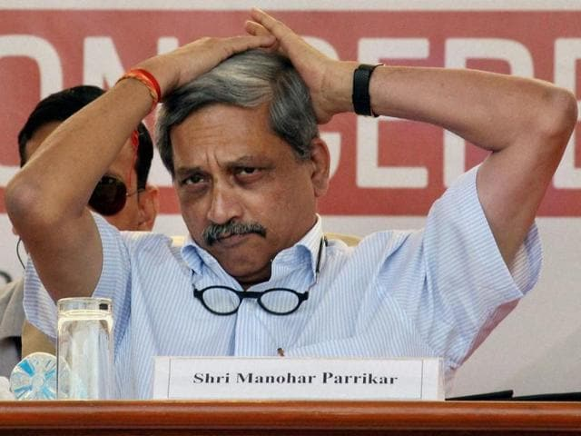 Manohar Parrikar's words are carefully listened to and strongly influence the actions of a swathe of players, including the armed services, foreign governments and terrorist groups(PTI)