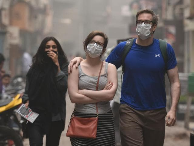 A few companies were thriving from the heavy smog hanging over Delhi earlier this month -- providers of face masks and air purifiers have seen sales soar.