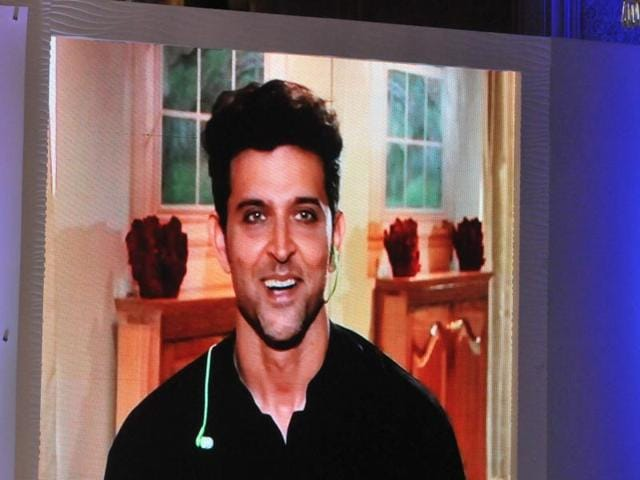 Hrithik Roshan, who could not attend the conclave due to health reasons, answered queries in the live chat through a big screen put up at the venue.