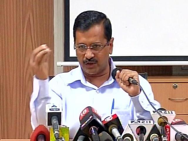 Delhi chief minister and AAP convenor Arvind Kejriwal hit out at the BJP government over the demonetisation of Rs 500 and Rs 1,000 banknotes, in New Delhi on Saturday.(ANI)