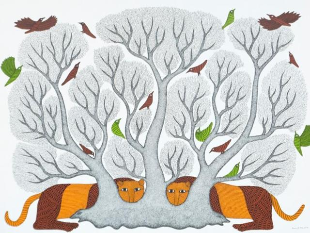 Inspired by nature, Gond artist Bhajju Shyam showcases his collection at his first solo show in the Capital.